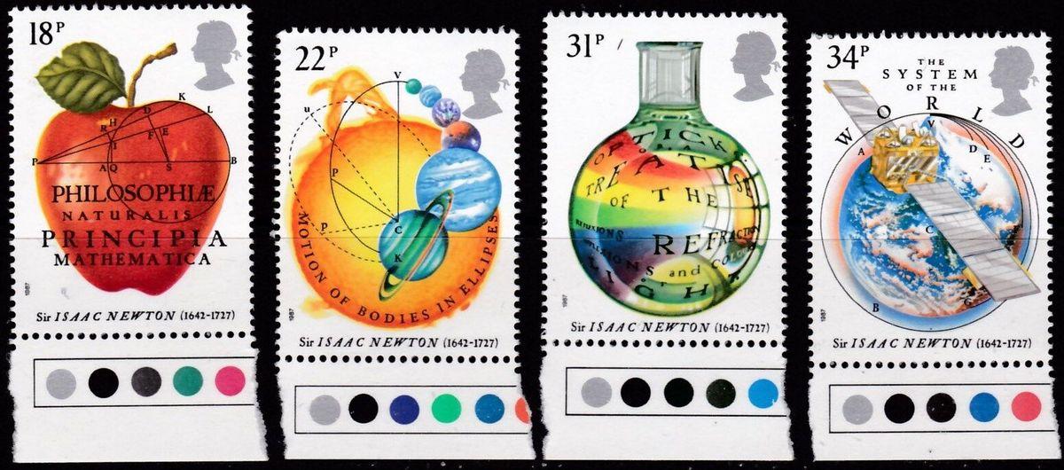牛顿纪念邮票
